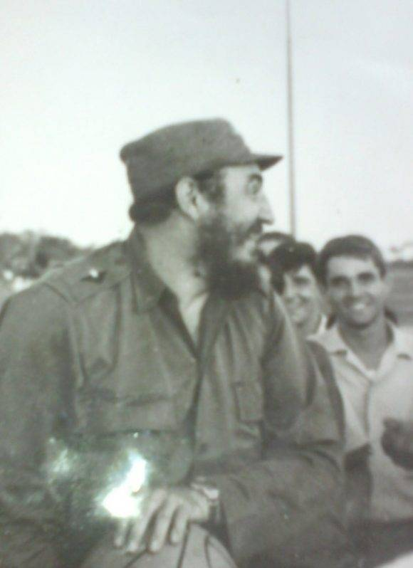 En Ceiba 1 1971. A la derecha Javier Sánchez dirigente de la FEEM.
