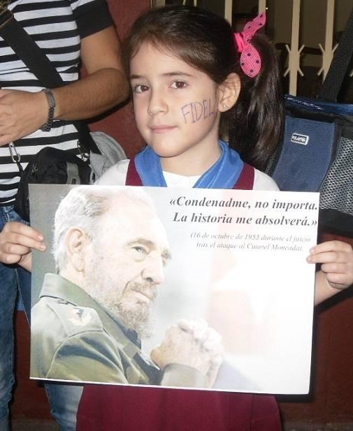Homenaje al Comandante en Santa Clara, fotos Ariadna Mora