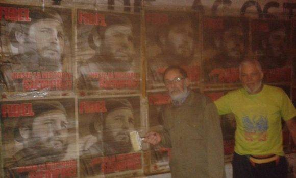 Murales en homenaje a Nuestro Comandante Fidel en Paysandú, Uruguay, fotos Nelson E. Gutiérrez