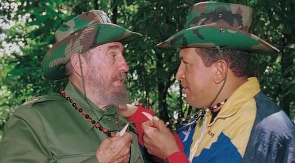 hugo-chavez-fidel-castro