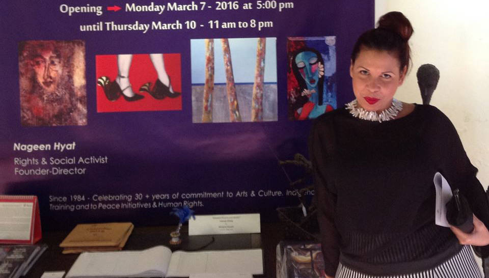 Liudmila López Domínguez ha participado en más de un centenar de exposiciones. Foto: Cortesía de la artista.