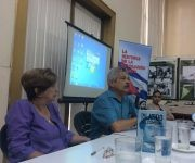 Pedro Pablo Rodríguez, quien también tuviera a su cargo el prólogo dle libro, habló en la presentación. Foto: María del Carmen Ramón/ Cubadebate.