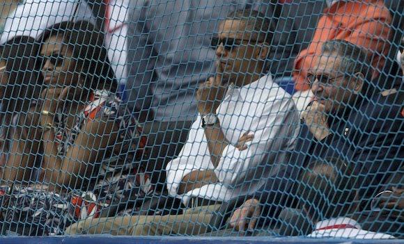 Obama y Raúl en el juego de pelota. Foto: Ismael Francisco/ Cubadebate