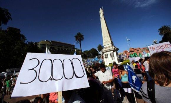 Protesta organizada por las Madres de la Plaza de Mayo contra el gobierno de Macri. Foto: Reuters.
