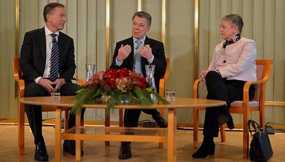 El presidente colombiano, Juan Manuel Santos, se encuentra en Oslo para recibir el Premio Nobel de la Paz. Foto: @JuanManSantos.
