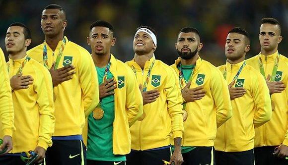 Selección de fútbol de Brasil, campeona en los Olímpicos de Río. Foto tomada de Peru.com.