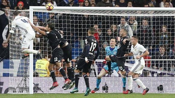 Así fue el gol del Sergio Ramos que dio la victoria al Real Madrid al 92'. Foto tomada de Marca.