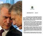 Macri y los Panamá Papers llegaron al Senado de Brasil: piden informes y sospechan encubrimiento de Temer. Foto: