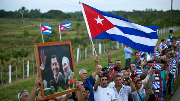 Homenaje póstumo del pueblo cubano a Fidel.