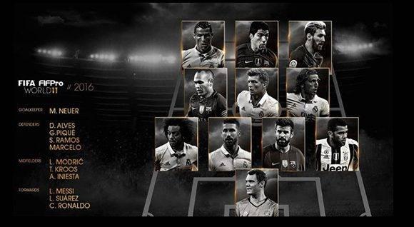 11 ideal de la FIFA. Autor: Marca.