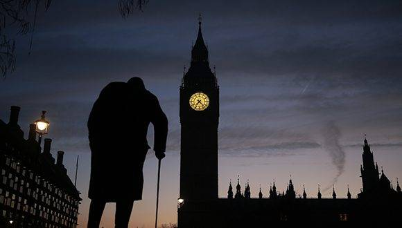 "A statue of Winston Churchill is silhouetted by the Elizabeth Tower, more commonly known as ""Big Ben"", and the Houses of Parliament in central London on January 24, 2017. The British government's Brexit plan will be put to the test on Tuesday with a landmark court ruling on whether it has the right to kick-start the country's EU departure without parliamentary approval. The 11 Supreme Court judges are expected to rule against the government in a move which could delay Prime Minister Theresa May triggering Article 50 of the EU's Lisbon Treaty, which would formally begin exit negotiations. / AFP PHOTO / Daniel LEAL-OLIVAS"