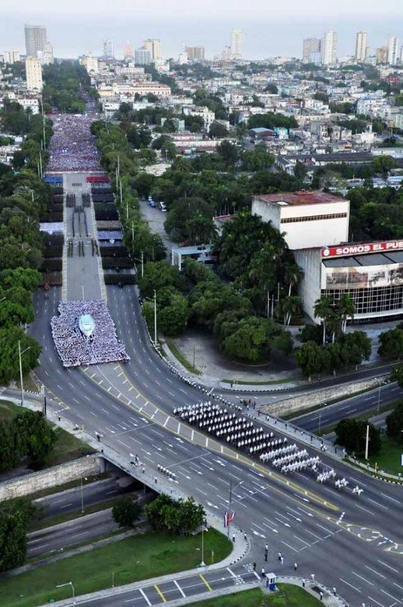 Parada militar. Foto: Roberto Garaycoa Martínez/ Cubadebate