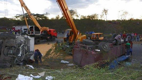 Imagen del accidente. Foto: Eduardo Palomares Calderón /Granma.