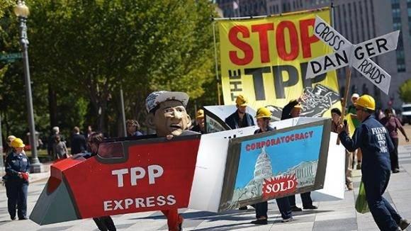 La firma del Acuerdo Transpacífico de Cooperación Económica en Nueva Zelanda, llegó en medio de protestas. Foto tomada de Andes.