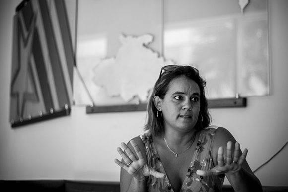 Ailyn Febles Estrada, presidenta de la Unión de Informáticos de Cuba. Foto: Fernando Medina Fernández/ Cachivache Media.