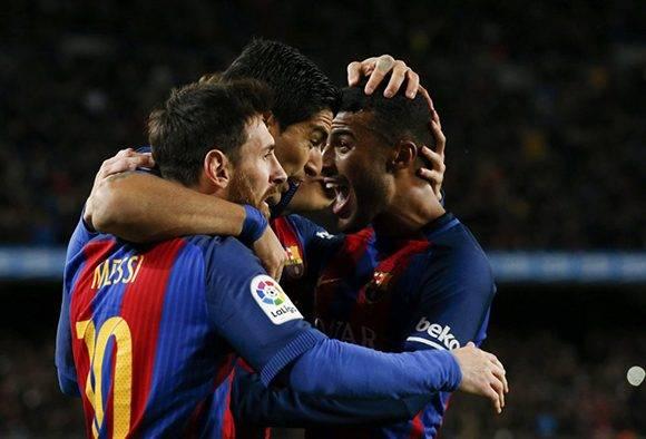 La MSN (Messi, Suárez y Neymar) rescataron al FC Barcelona que gracias a los goles de su delantero se clasifica para los cuartos de final de la Copa del Rey. Foto: Albert Gea/ Reuters.