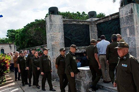 Honras fúnebres del General de División Carlos Fernández Gondín, Héroe de la República de Cuba, y Ministro del Interior (MININT). Foto: Marcelino Vázquez/ ACN.