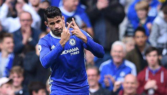 Diego Costa dedica su gol a Willian. Foto: Getty Images.
