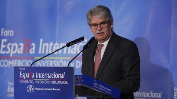 El ministro de Asuntos Exteriores, Alfonso Dastis, durante su intervención en el foro