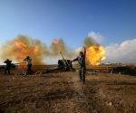El Estado Islámico (Daesh, en árabe) dinamitó la mayor planta petrolera de Siria, en Hayyan. Foto. Reuters.