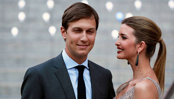 Jared Kushner y su esposa Ivanka Trump, la hija del próximo presidente de EE.UU,. Foto: Lucas Jackson/ Reuters.