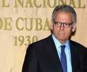 El encargado de negocios a.i. de la embajada de los Estados Unidos, Jeffrey De Laurentis en ceremonia de suscripción de Acuerdo de Cooperación antiderrame de hidrocarburos en el Golfo de México y el Estrecho de la Florida