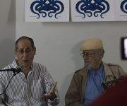 Jorge Fornet y Roberto Fernández Retamar. Foto: L Eduardo Domínguez/ Cubadebate.