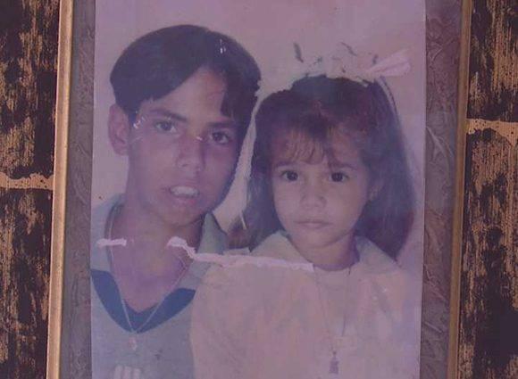 Los sobrinos de Yudith. El mayor tenía 18 años y la niña apenas 8. Ellos se perdieron junto a sus padres. Foto: Cortesía de la familia.