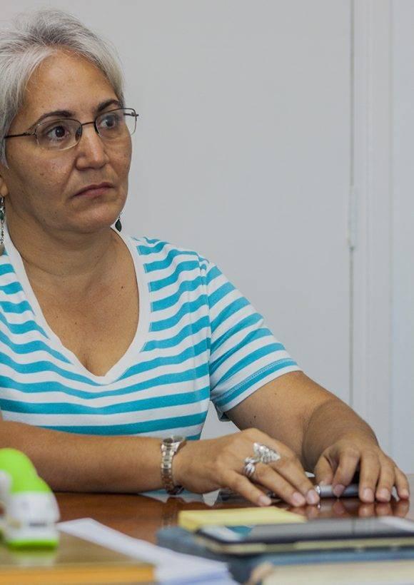 Mariela Rodríguez Abreu, especialista superior de la Vicepresidencia de Economía y Finanzas de Copextel. Foto: L. Eduardo Domínguez/ Cubadebate.