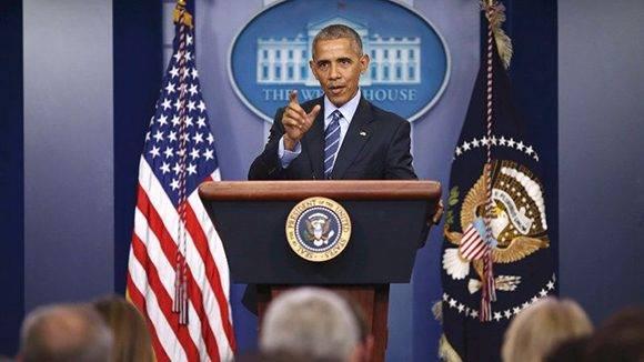 Obama en su última rueda de prensa como presidente de Estados Unidos. Foto: Reuters.