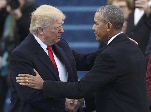 Trump y Obama. Foto: Reuters.