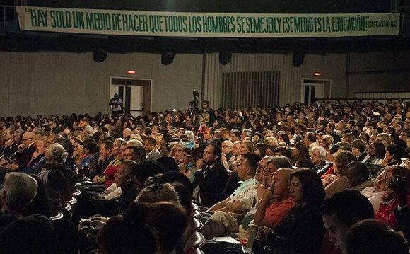 Inauguración de Pedagogía 2017 en el Karl Marx. Foto: L Eduardo Domínguez/ Cubadebate
