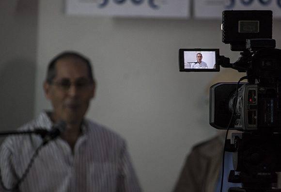 La conferencia de prensa tuvo lugar en la sesde de la Casa de las Américas en el Vedado capitalino. Foto: L Eduardo Domínguez/ Cubadebate
