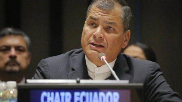 Rafael Correa. Foto tomada de Entorno Inteligente.