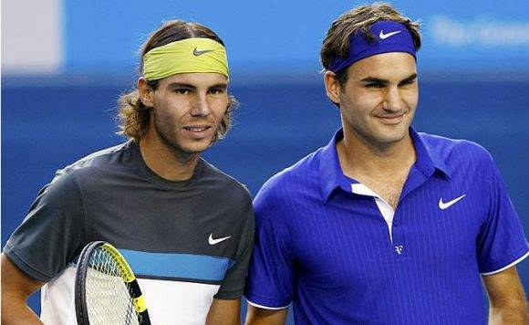 Rafa Nadal y Roger Federer. Foto tomada de La Barra.