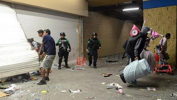 Saqueos en Veracruz en medio del gasolinazo. Foto tomada de El Nuevo Diario.