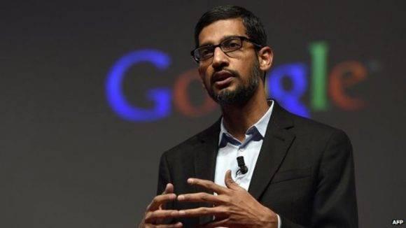 Sundar Pichai, director ejecutivo de Google. Foto tomada de BBC.