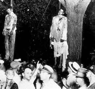 Thomas Shipp y Abram Smith, en 1930 en el centro de Marion, Indiana.
