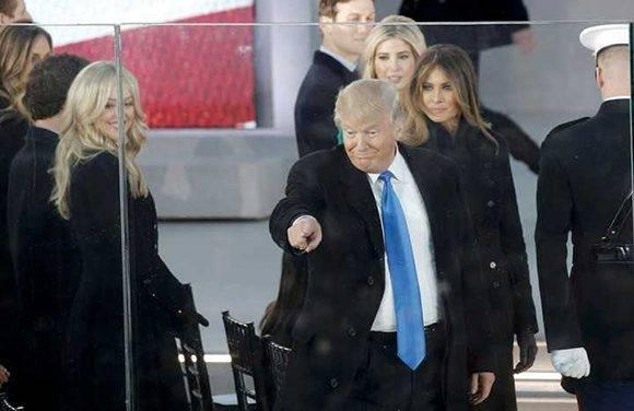 Trumpen un acto previo a su toma de posesión en la capital de Estados Unidos. Foto: Reuters.