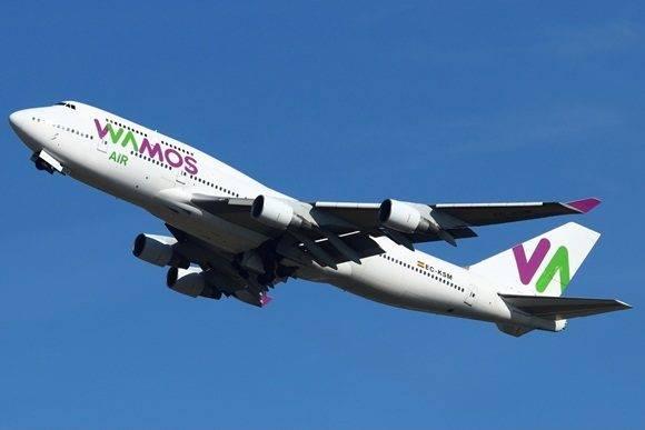 Compañía aérea Wamos.