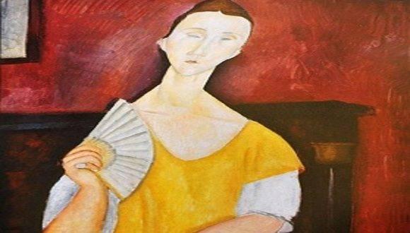 El abanico de Modigliani, una de las obras robadas