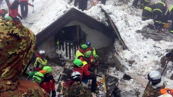 Rescate de personas en Italia.