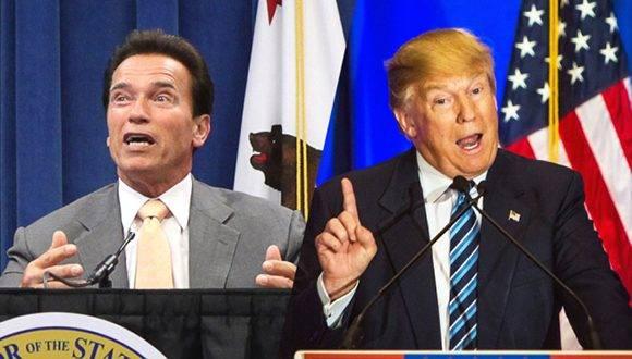 Arnold Schwarzenegger, el actor y exgobernador de California que tomó el lugar de Donald Trump. Foto: AP/ REX SHUTTERSTOCK.