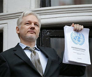 Julian Assange. Foto: AFP.
