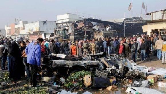 Atentado en Bagdad. Foto: Agencias.