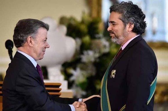 Agradece garante cubano distinción otorgada por Colombia.