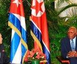 Vicepresidente cubano, Salvador Valdés, recibe al vicepresidente del Comité de Estado de la República Popular Democrática de Corea (RPDC), Choe Ryong Hae. Foto: Granma.