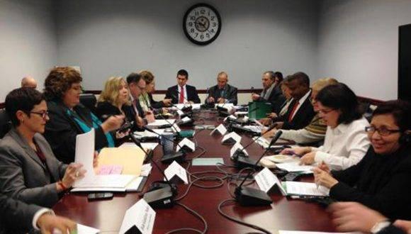 Cuba y Estados Unidos intercambios sobre la trata de personas en un ambiente profesional y respetuoso. Foto: Cubaminrex.