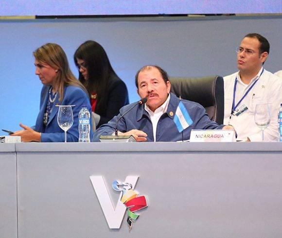 Daniel Ortega en V Cumbre de la Celac. Foto: @PresidenciaRD/ Twitter.