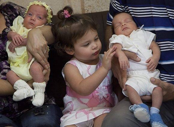 Gema y sus hermanitos Ambar y Gerardito. Foto: Ladyrene Pérez/ Cubadebate.